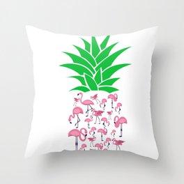 Humorous Plant Genus Fruit Graphic Tee Shirt Gift Funny Flamingo Pineapple Awesome Enzyme Men Women Throw Pillow