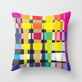 Little Boxes of Colour/Color Throw Pillow