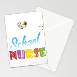 School Nurse Gift Nursing Love T-Shirt Stationery Cards