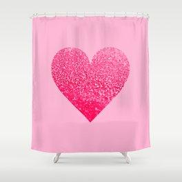 PINK PINK HEART Shower Curtain