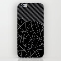 Ab Lines 45 Grey and Black iPhone & iPod Skin