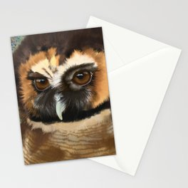 Brown Wood Owl  Stationery Cards