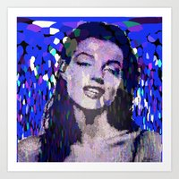 monroe Art Prints featuring Monroe by Saundra Myles