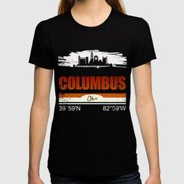 Columbus GPS Coordinates Shirts Ohio Gifts T-shirt