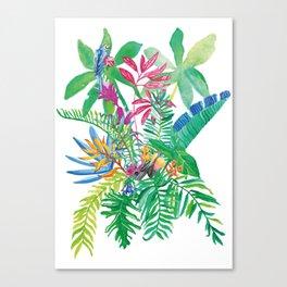 Tropical Love Canvas Print