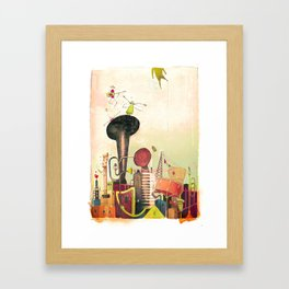 favellas en folies Framed Art Print