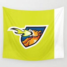 Fire Breathing Rowdys Logo Wall Tapestry