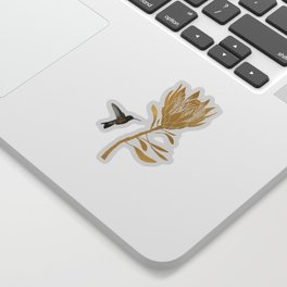 Hummingbird & Flower I Sticker