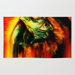 nightfall the parrot Rug