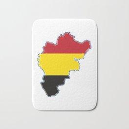 Belgium Map with Belgian Flag Bath Mat