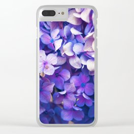 Hydrangea Clear iPhone Case