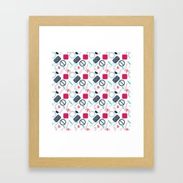 Contraception Pattern Framed Art Print