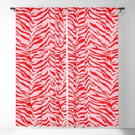 Tiger Print - Red and Pink Blackout Curtain