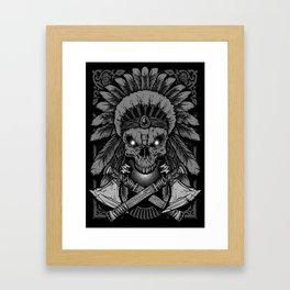 Chief Indian Skull Framed Art Print