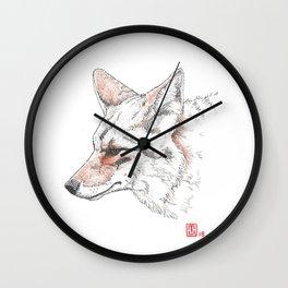 Coyote Study Wall Clock