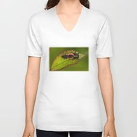 bug V-neck T-shirts featuring Bug by Wealie