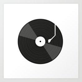 Vinyl Lovers Turntable Gift Best Idea Digging Art Print