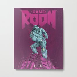 Rage Against the Game Room Backlog Metal Print