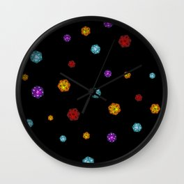 D20 Dice Wall Clock