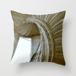 Sand stone spiral staircase 8 Throw Pillow