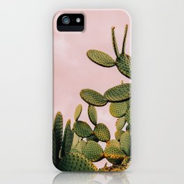 Cactus on Pink Sky iPhone Case