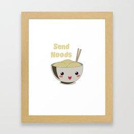 Send Noods Japanese Ramen Noodles Vintage Framed Art Print