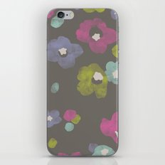 Watercolor Blooms - in Charcoal iPhone & iPod Skin