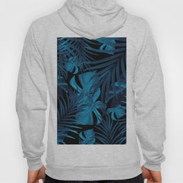 Tropical Jungle Night Leaves Pattern #2 #tropical #decor #art #society6 Hoody