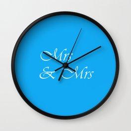 Mrs & Mrs Monogram Wall Clock