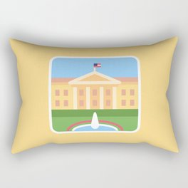 "Trumpation - White ""Golden"" House Rectangular Pillow"