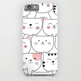 Full of cats, pattern, print, kitty print, kids nursery, cats decor, home decor iPhone Case