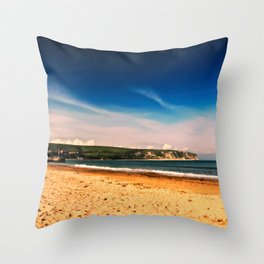 Swanage Bay. Throw Pillow