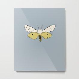 Estigmene Acrea Moth Metal Print