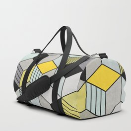 Colorful Concrete Cubes 2 - Yellow, Blue, Grey Duffle Bag