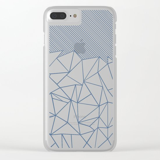 Ab Lines 45 Blues Clear iPhone Case