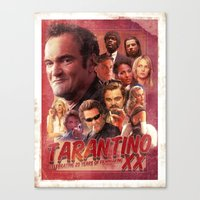 quentin tarantino Canvas Prints featuring Tarantino by turksworks