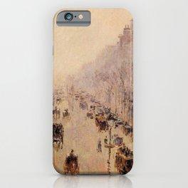 Camille Pissarro - Boulevard Montmartre Morning, Sunlight And Mist - Boulevard Montmartre Matin, Lum iPhone Case