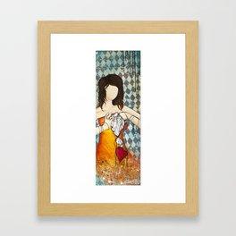 Popped Heart Strings Framed Art Print