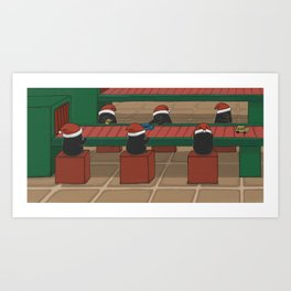 Helping out, (The Unexpected Adventures: Christmas Edition) Art Print