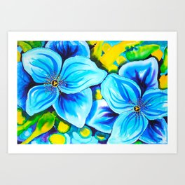 Blue Poppies 3 Art Print