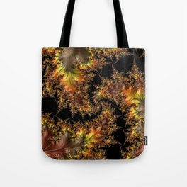 Autumn Leaves yellow brown orange Fractal Tote Bag