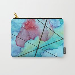 Blue under lines Carry-All Pouch