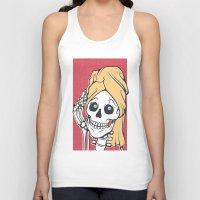 skeleton Tank Tops featuring Skeleton by NathanJoyce