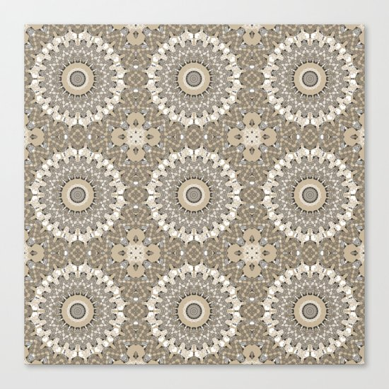 Beige brown kaleidoscope . Canvas Print