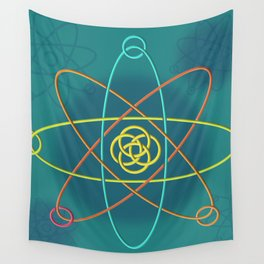 Line Atomic Structure Wall Tapestry