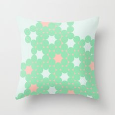Teal Dot Throw Pillow
