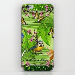 Birdy & Fishy spring green iPhone Skin