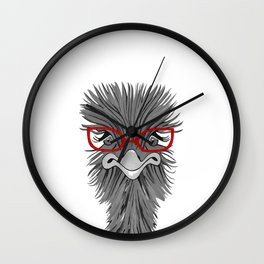 Wise Ostrich Wall Clock