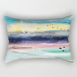 Summer watercolor abstract art design Rectangular Pillow