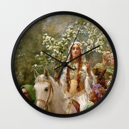 "John Collier ""Queen Guinevere's Maying"" Wall Clock"